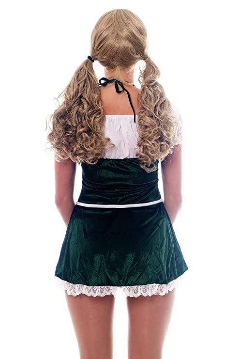 Dress me up, L032, Disfraz para mujer traje vestido: traje verde ...