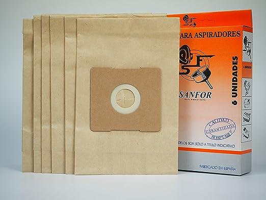 Sanfor 64056 Caja Bolsa Aspirador Daewoo R-DA01 6 Unidades, Papel ...