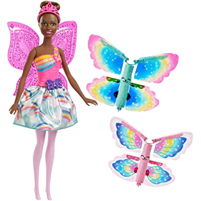 Barbie ​Dreamtopia Fairy Doll with Flying Wings: Toys & Games