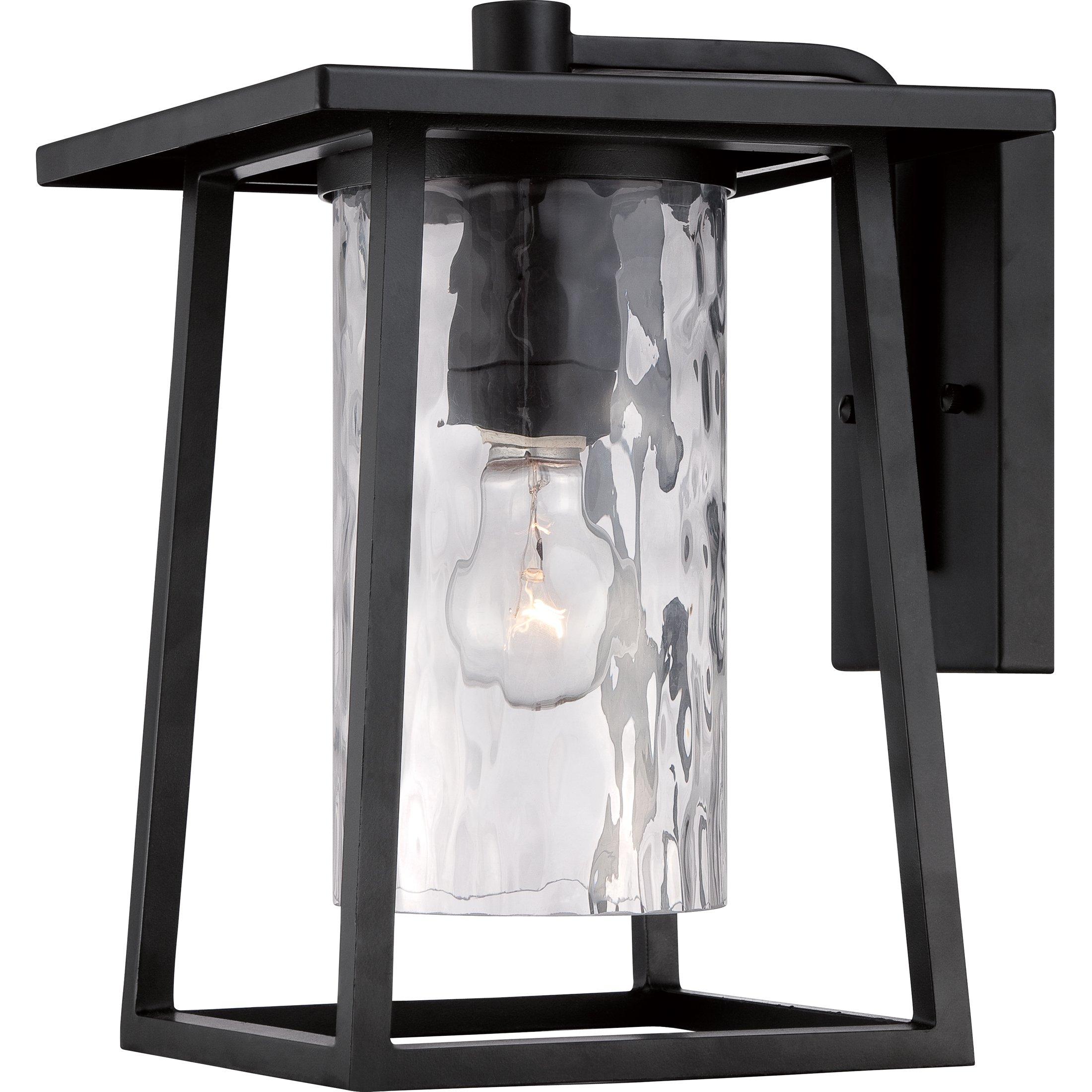 Quoizel LDG8409K Lodge Farmhouse Outdoor Lantern Wall Sconce, 1-Light, 100 Watts, Mystic Black (13'' H x 10'' W)
