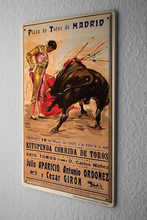 LEotiE SINCE 2004 Cartel Letrero de Chapa Trotamundos Madrid Corrida de toros Torero Poster