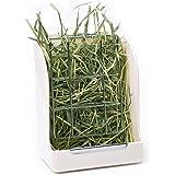 CalPalmy Hay Feeder/Rack - Ideal for Rabbit/ChinChilla/Guinea Pig - Keeps Grass Clean & Fresh/Non-Toxic, BPA Free Plastic/Minimizing Waste/Mess