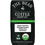 The Bean Coffee Company Organic Aloha Bean (Hawaiian Hazelnut), Medium Roast, Whole Bean, 16-Ounce Bag