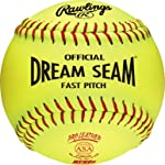 Rawlings Sporting Goods C12RYLAH Official ASA Dream Seam Fast Pitch Softballs