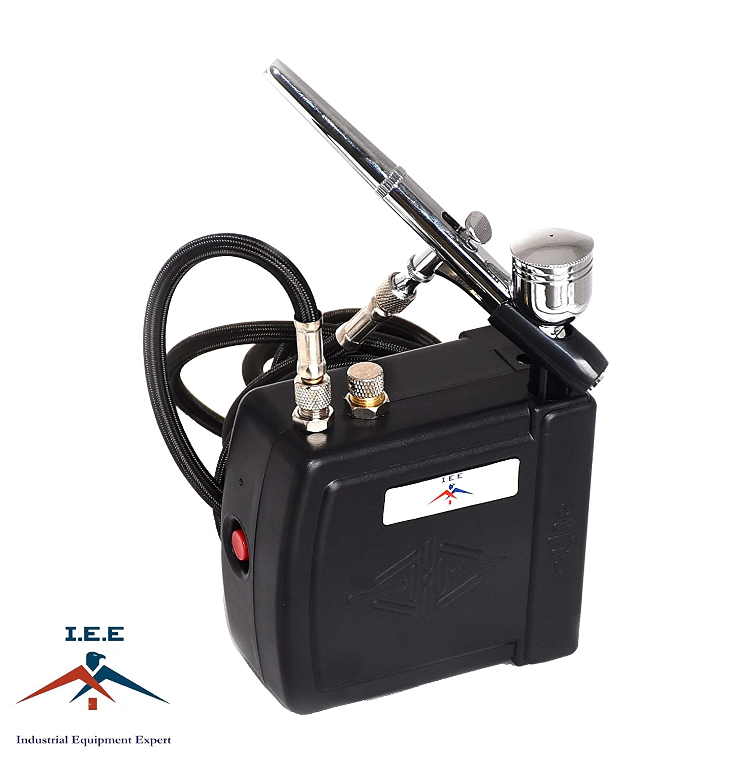 Airbrush MAS KIT-VC16-B22 Portable Mini Airbrush Air Compressor Kit Industrial Equipment Expert