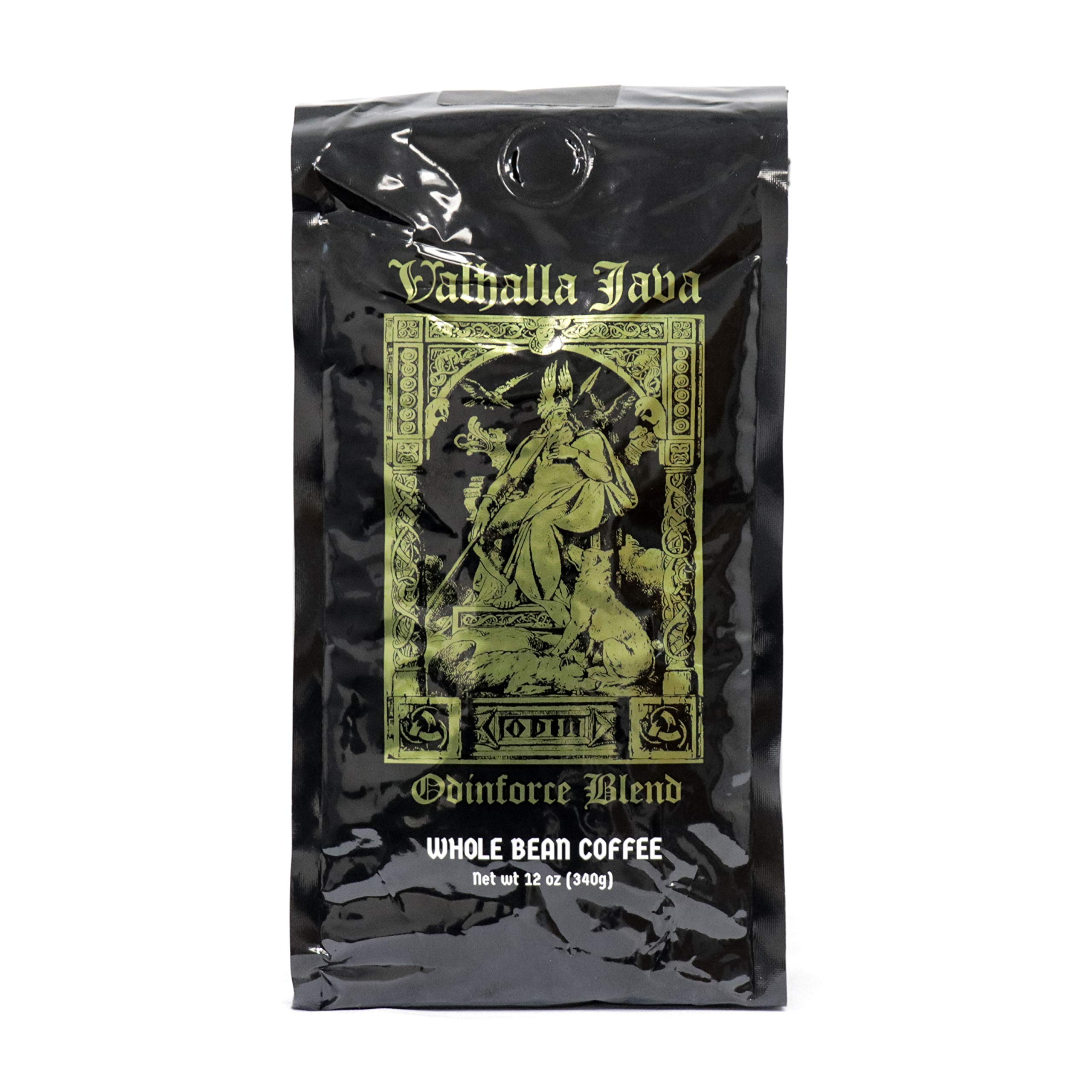 Valhalla Java Whole Bean Coffee by Death Wish Coffee Company, Fair Trade and USDA Certified Organic - 12 Ounce Bag by Death Wish Coffee Co.