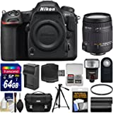 Nikon D500 Wi-Fi 4K Digital SLR Camera Body with 18-250mm DC Lens + 64GB Card + Case + Flash + Battery & Charger + Tripod + Kit