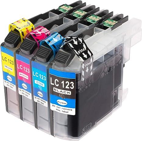 4 técnica XL Cartuchos de Tinta con Últimas V3 chip para Brother ...