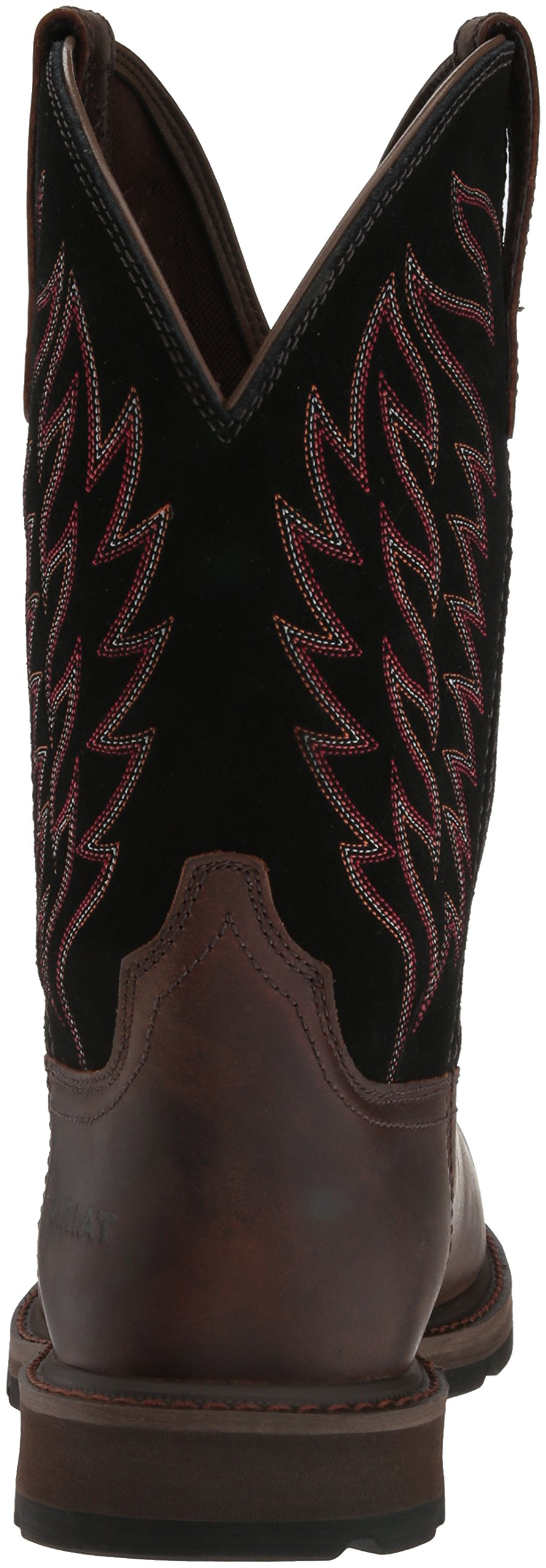 Ariat Work Men's Groundbreaker Pull-On Steel Toe Work Boot, Brown/Black, 10 D US by Ariat (Image #2)