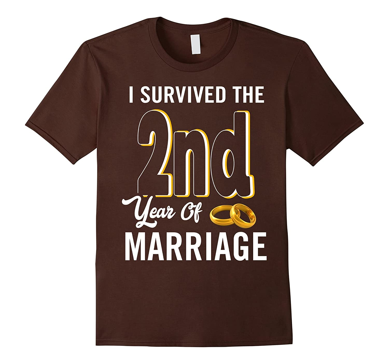 2nd Anniversary Shirt I Survived The 2nd Year Of Marriage