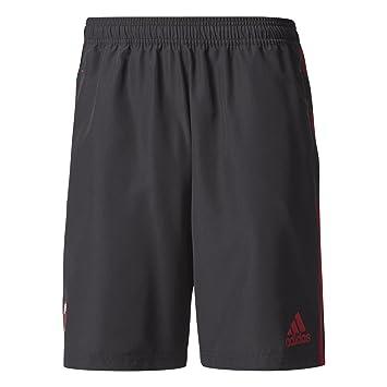 5ebdb65c5ad35 adidas 2017-2018 AC Milan Woven Shorts (Black): Amazon.co.uk: Sports ...