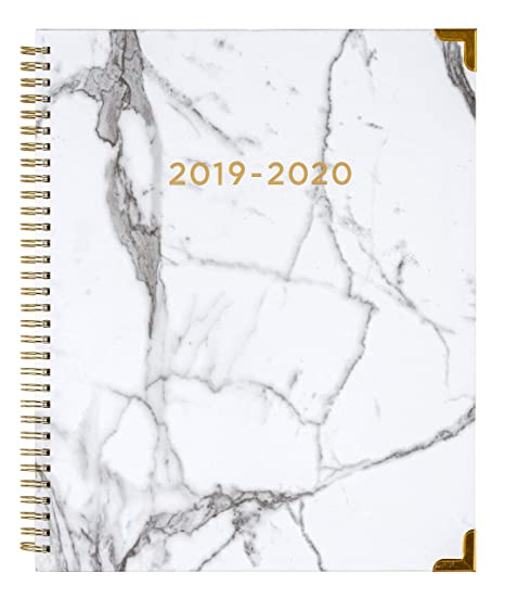 2019-2020 Eccolo Large Desk Size Spiral Agenda Planner, 18 Tabbed Months of Monthly & Weekly Views, 8.5 x 11