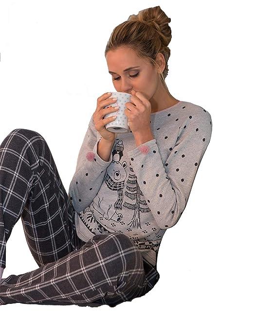 MASSANA - Pijama Mujer Invierno Winter Teddy Bear: Amazon.es: Ropa y accesorios