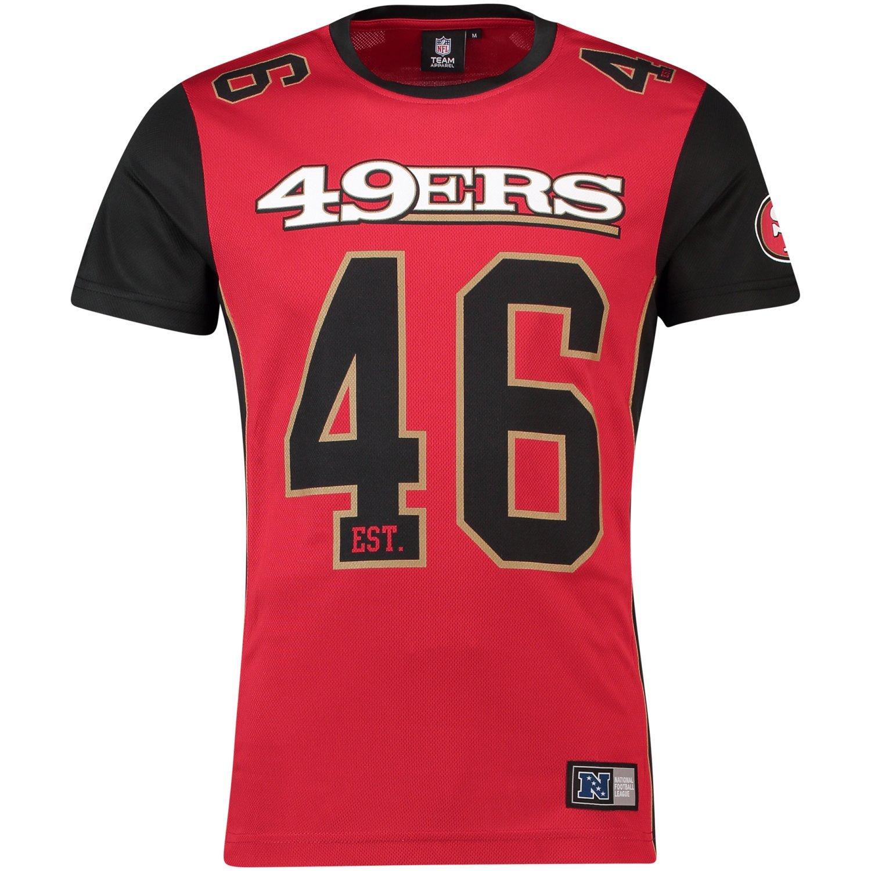 Majestic T-Shirt NFL San Francisco 49ers Dene Poly Mesh Rouge/Noir