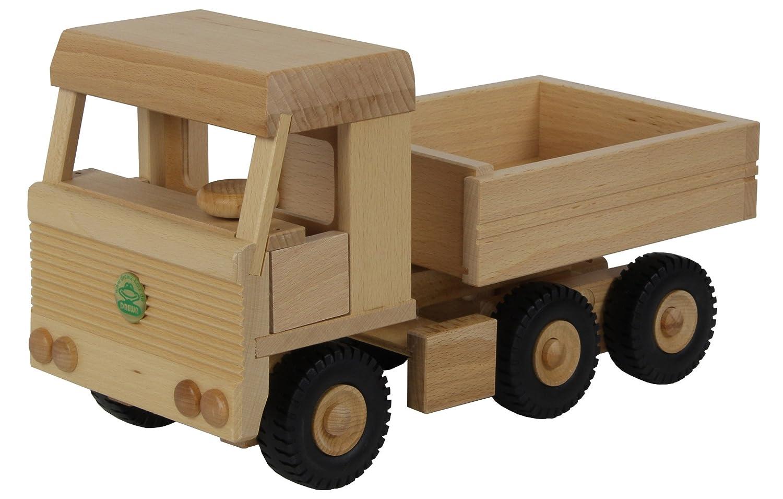 Drewa Holz 3-Achs Euro LKW Schwerlast lenkbar für Kinder ab 3 Jahren