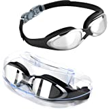 Swimming Goggles, TOMSHEIR Clear Swim Goggles, Anti Fog UV Protection No Leaking Swim Goggles with Protection Case for Adult Men Women Youth Kids Girls, Free Ear Plugs