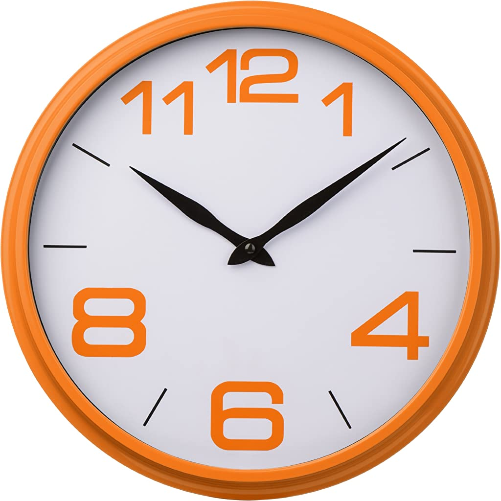 Premier Housewares Orange Kitchen Wall Clock