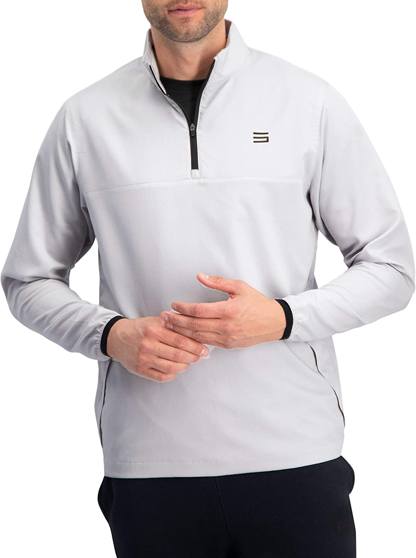 Mens Windbreaker Jackets - Half Zip Golf Pullover Wind Jacket - Vented, Dry Fit : Clothing