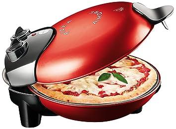 Macom Pizza Amore - Horno de convección, color rojo, 1200 W