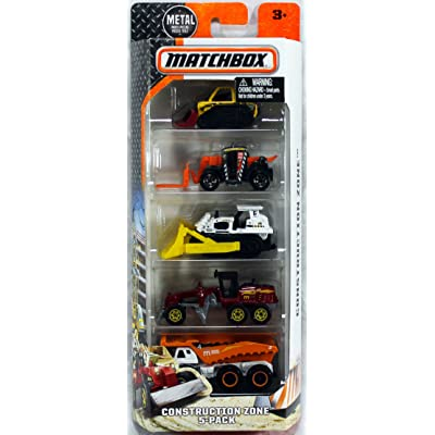 Matchbox, 2016 Construction Zone 5-Pack: Toys & Games