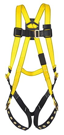MSA Safety 10072481 Workman Harness with Back D-Ring, Qwik-Fit Leg