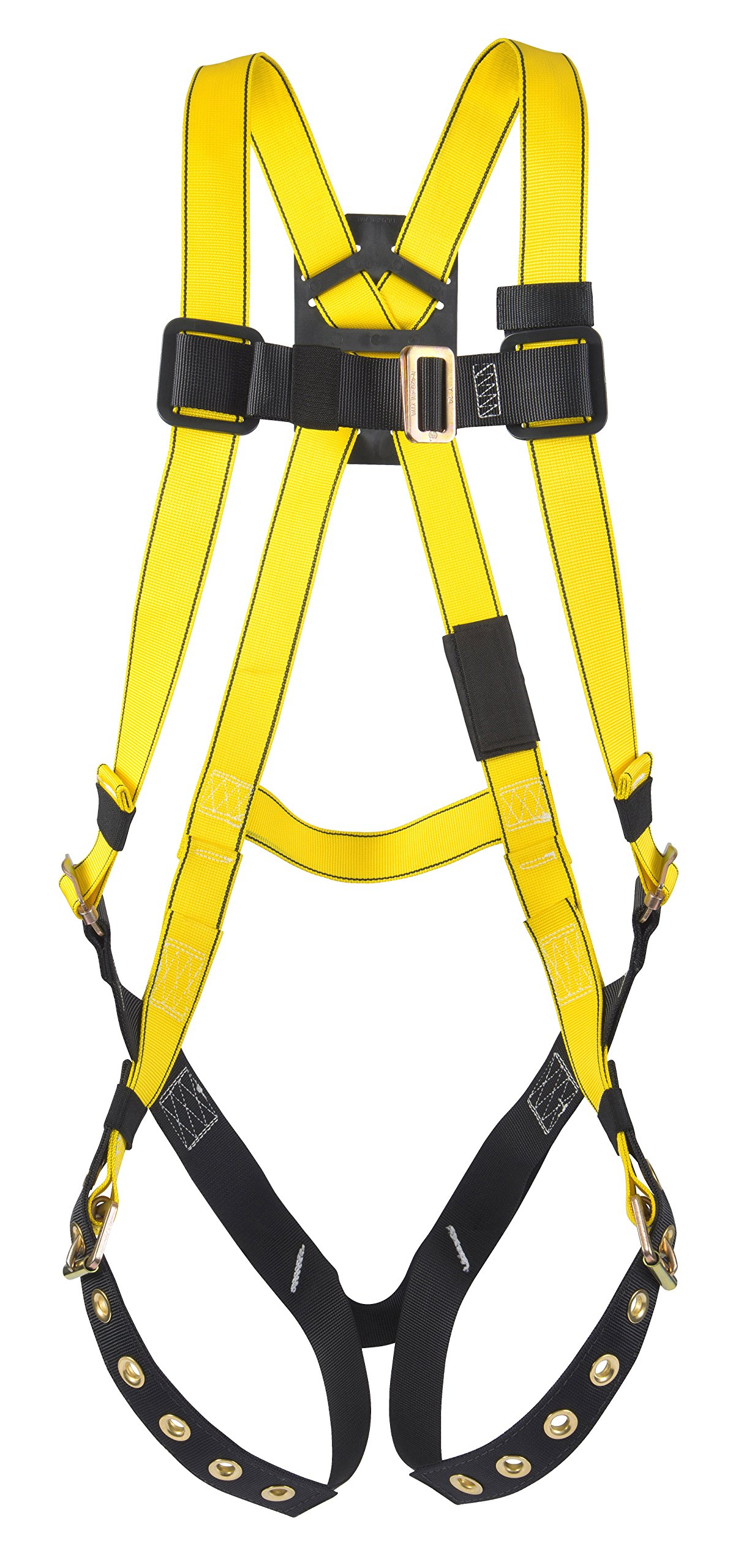 MSA 10072481 Workman Harness with Back D-Ring, Qwik-Fit Leg Straps and Chest Strap, Super X-Large