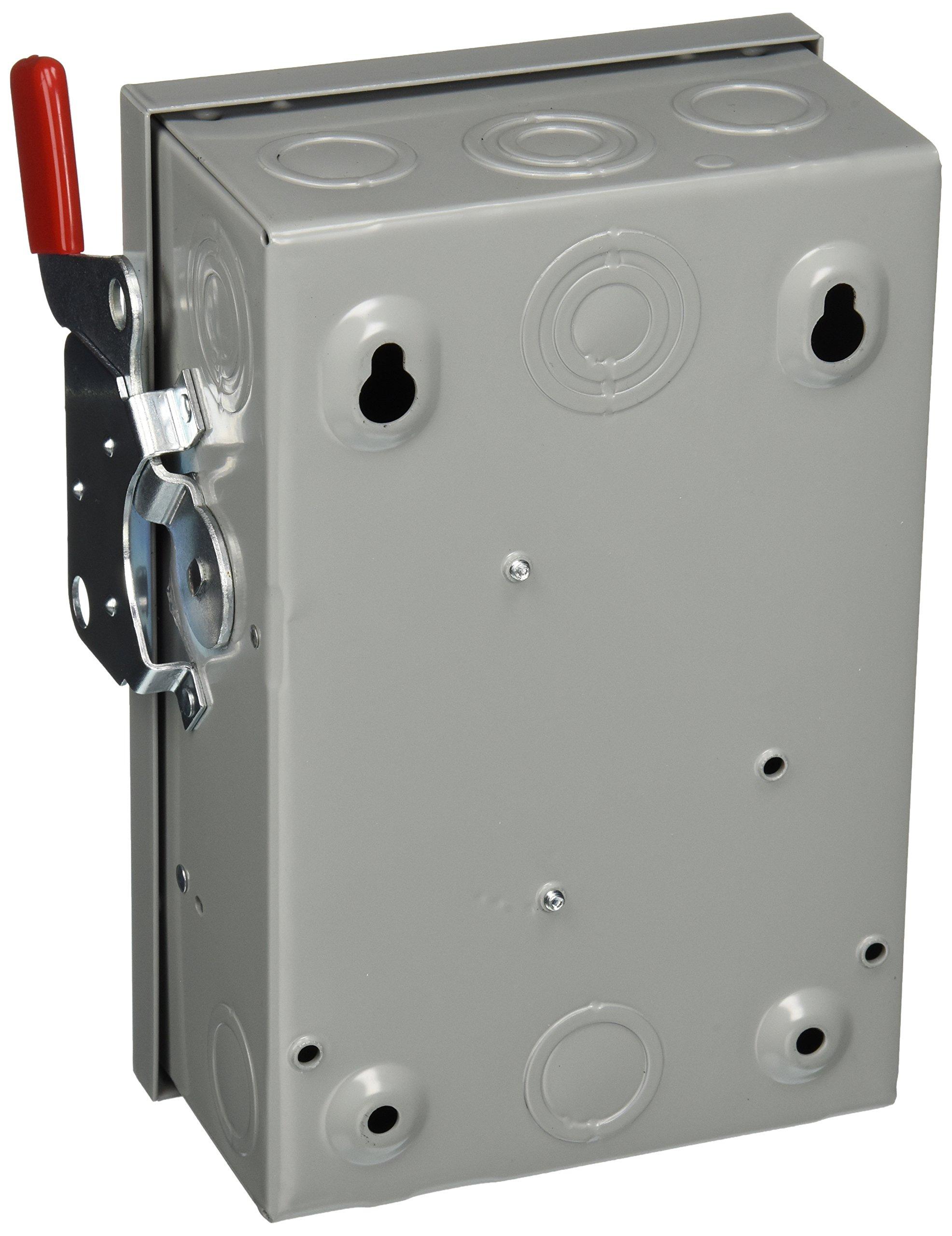 SIEMENS GF221NU 30 Amp, 2 Pole, 240-Volt, Cartridge Fused, General Duty, W/N Indoor Rated by Siemens (Image #2)