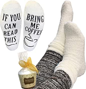 Coffee Socks - Gift for Women, Bring Me Coffee, Birthday Gift