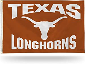 Rico Industries NCAA Texas Longhorns 3-Foot by 5-Foot Single Sided Banner Flag with Grommets
