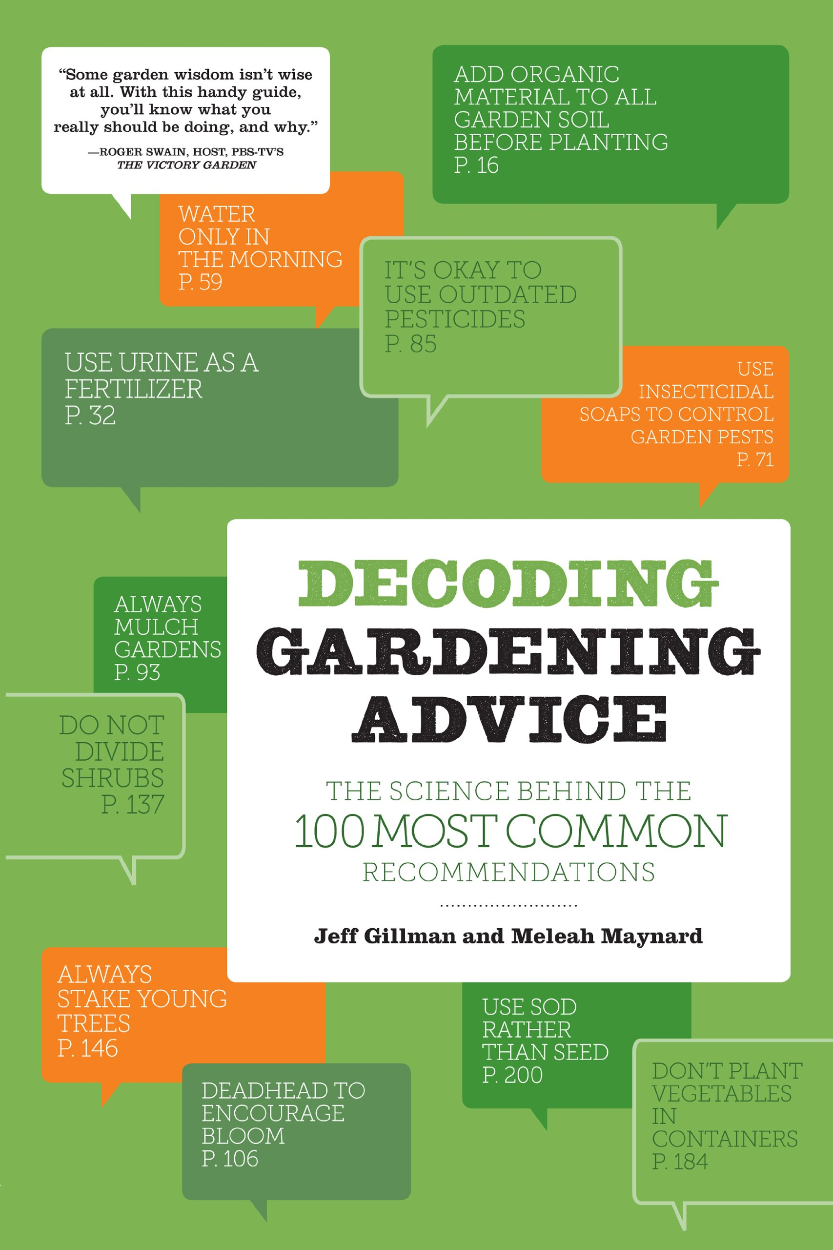 Superb Decoding Gardening Advice: The Science Behind The 100 Most Common  Recommendations: Jeff Gillman, Meleah Maynard: 9781604692204: Amazon.com:  Books