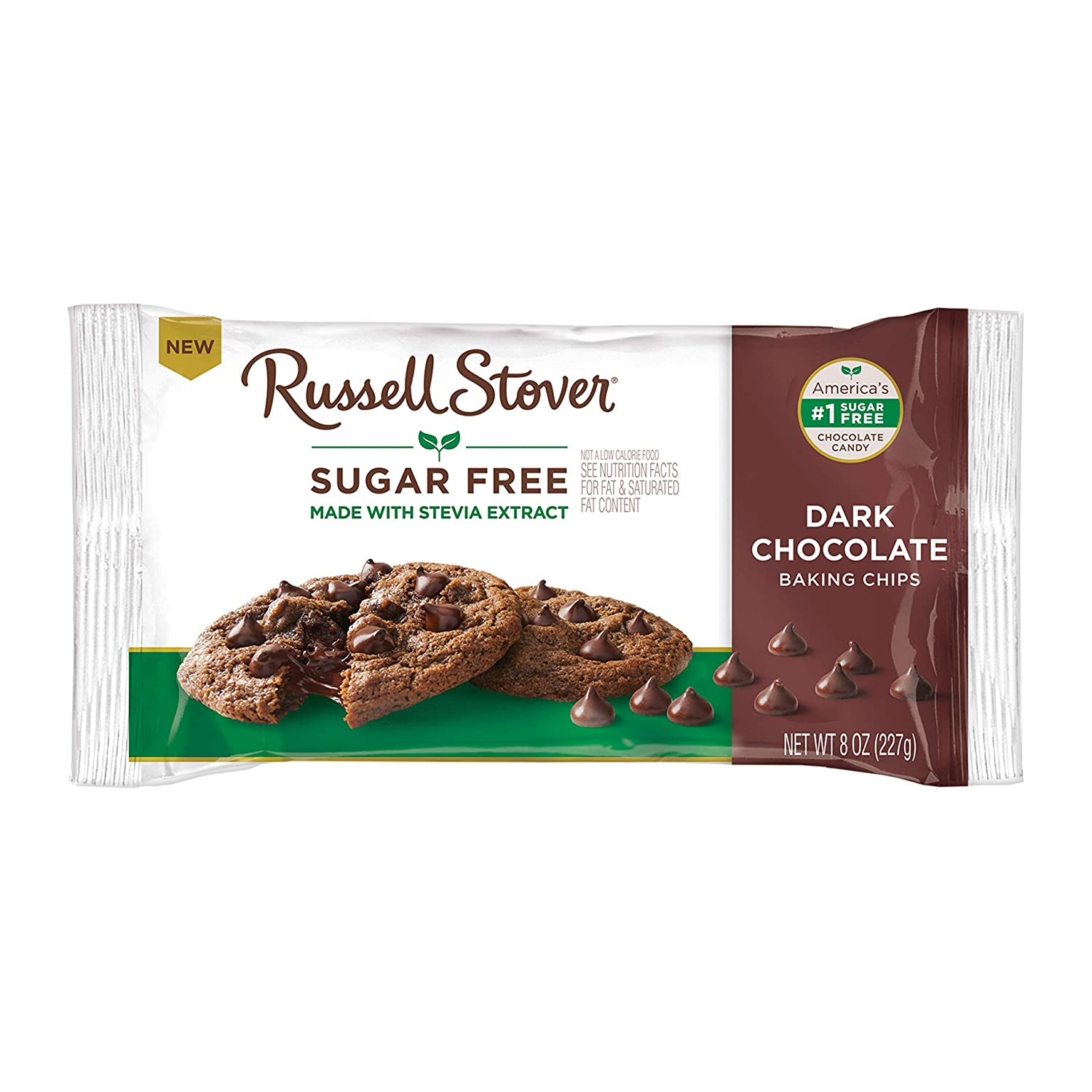 Amazon Com Russell Stover Sugar Free Dark Chocolate Baking Chips 8 Oz Bag Grocery Gourmet Food