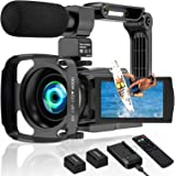 4K Camcorder Video Camera 60FPS 48MP Vlogging Camera for YouTube WiFi 16X Digital Camera IR Night Vision Camcorders with Micr
