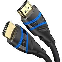 KabelDirekt – 3 m – kabel HDMI 2.1 z cert. Ultra High Speed 8K (48G, 8K przy 60 Hz, najnowszy standard, oficj…