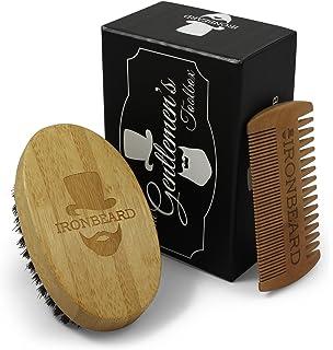 Kit para hombres - Cepillo y peine para barba - Caja de regalo de cuidado de
