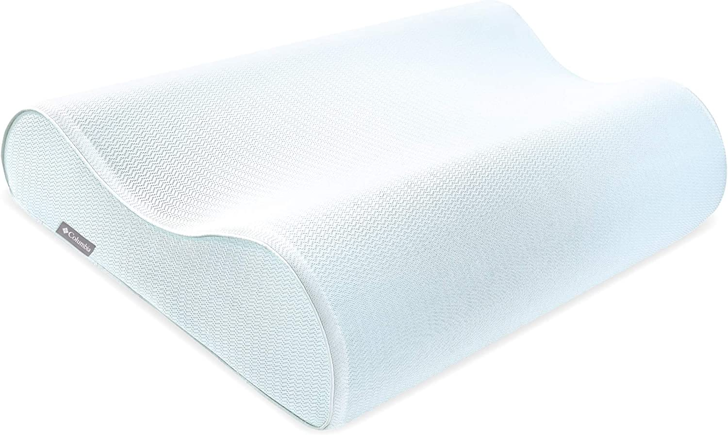 Columbia Ultimate Contour Performance Gel-Infused Memory Foam Pillow - Maximum Airflow - Dual Heights - Omni-Wick Moisture Wicking Tech - Cradling Support for All Sleep Positions - Standard/Queen