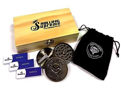 Caja de almacenamiento Rolling Supreme de Trendz, de madera, varios tamaños ,