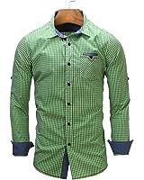 B dressy Slim european size New Arrival Men's shirt Long Sleeve Plaid Shirts Mens Dress Shirt Casual Shirts Cool