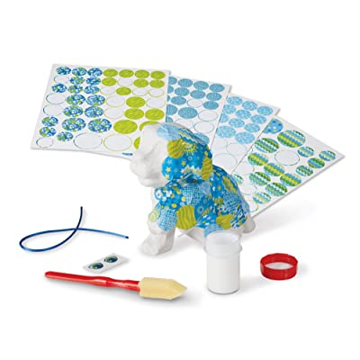 Melissa & Doug Decoupage Made Easy Puppy Paper Mache Craft Kit with Stickers (Great Gift for Girls and Boys - Best for 6, 7, 8, 9, 10 Year Olds and Up): Toys & Games