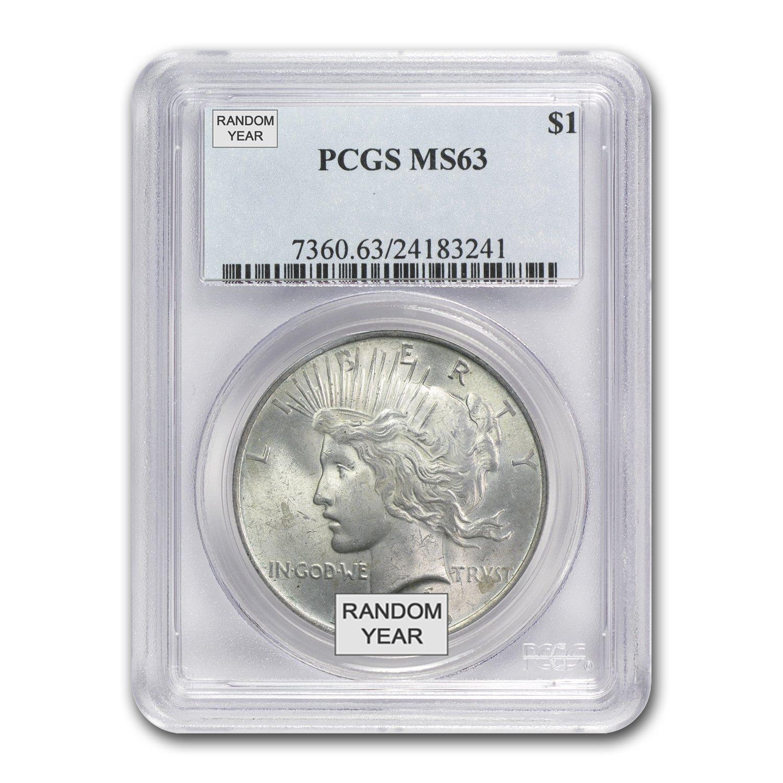1925 Peace Dollar $1 MS-63 PCGS