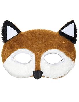 Mascarilla felpa zorros (disfraz de zorro / traje de animal Accesorio)