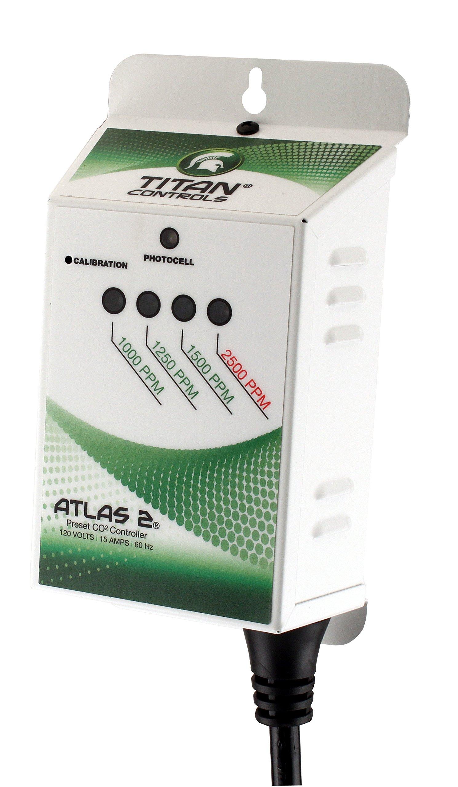 Titan Controls Preset Carbon Dioxide (CO2) Monitor & Controller, 120V - Atlas 2