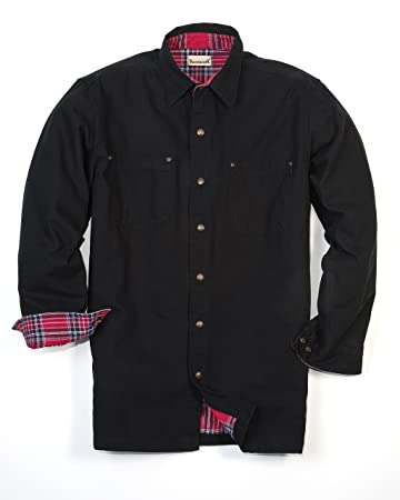 Amazon.com: Backpacker Canvas/Flannel Lined Shirt Jacket: Sports