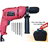 CHILLAXPLUS 13 MM Impact Drill Machines with Reverse/Forward Facility and Speed Control with 6 Drill Bits and Free Carry Bag
