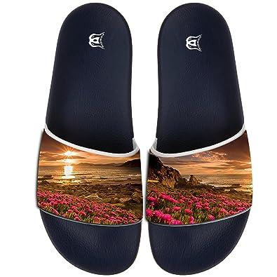 Across Pattern Slippers Skid-proof Indoor Outdoor Flat Flip Flops Beach Pool Slide Sandals For Men Women