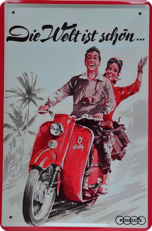 Cartel de chapa Vespa servizio Reklame 20 x 30 cm Metal Sign ...