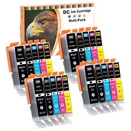 20 Cartuchos para impresora Canon PGI-550 CLI-551 PIXMA ...
