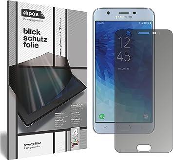 dipos I Protección de la Vista Compatible con Samsung Galaxy J7 Star Protector de Pantalla Privacy: Amazon.es: Electrónica