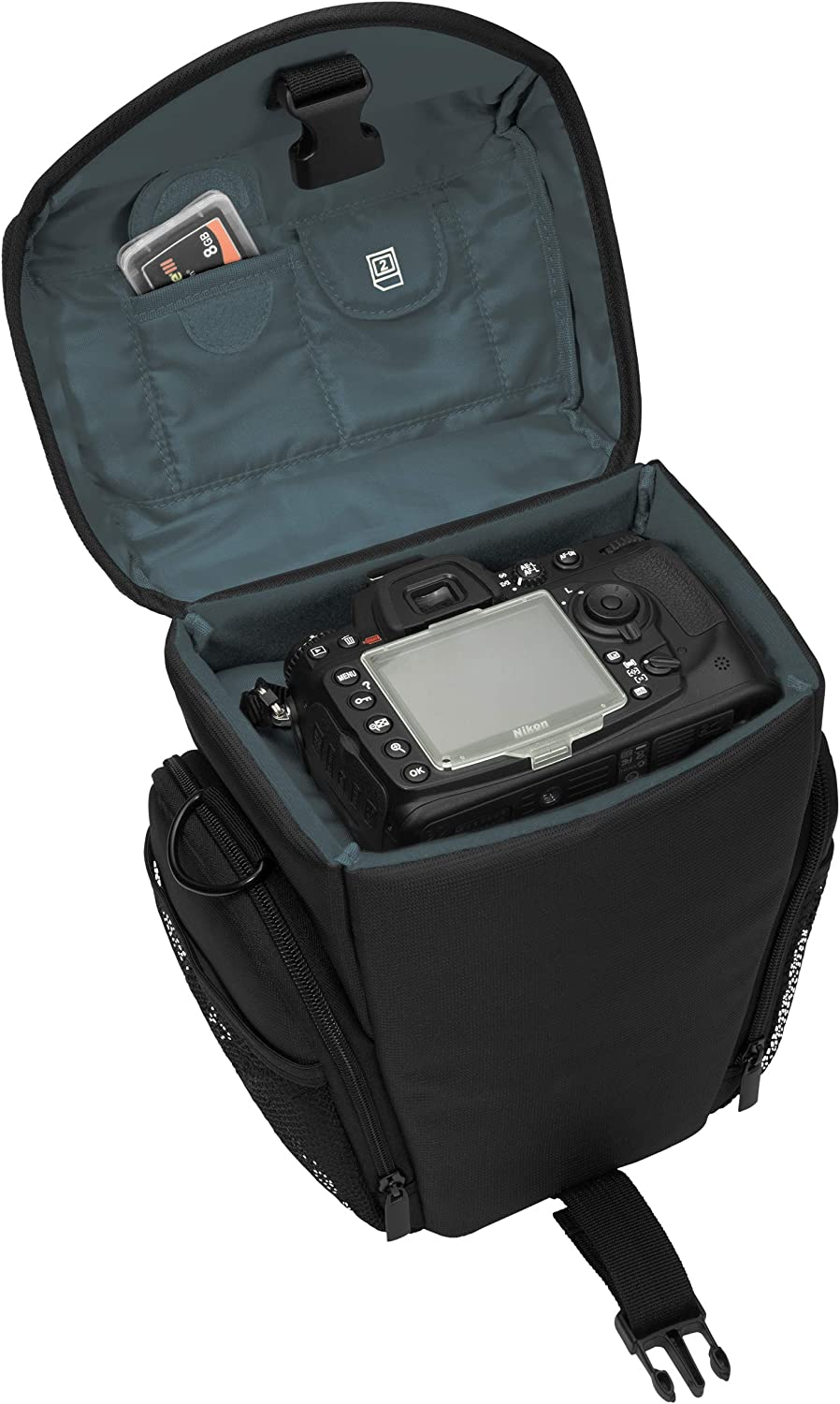 PEDEA Mobile Phone Case for Sony SLT-A58/K//-A58Y,////Panasonic Lumix//Space for Camera and Lens with Carry Strap and Accessory Storage with Screen Protector