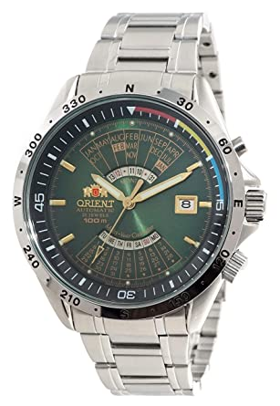 8cc2439d5 Image Unavailable. Image not available for. Color: Orient Sports Automatic  Multi-Year Calendar ...