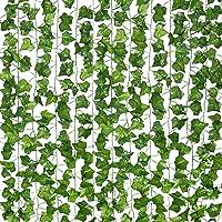 12 ST Strengen Kunstmatige Lvy Leaf Wijnstok Garland Nep Gebladerte Opknoping Planten voor Interieur en exterieur…